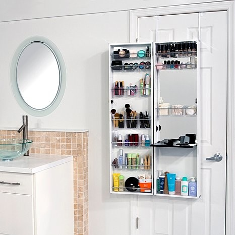 Over-the-Door Beauty Armoire With Full-Length Mirror - Contemporary - by HSNi