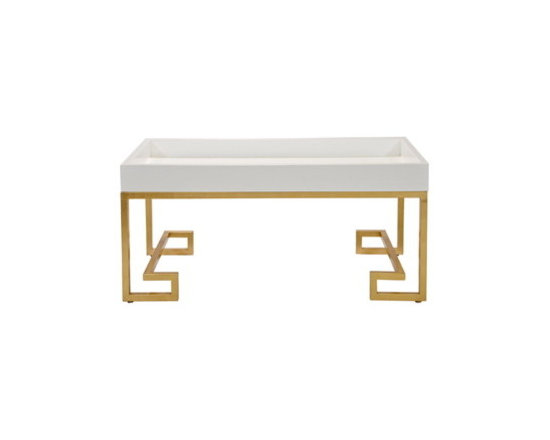 Conrad Lacquer Tray with Gold Leafed Base -