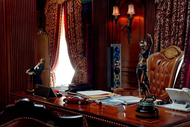 lawyer's art gallery of Mr Hotma Sitompoel eclectic-home-office
