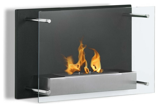 Senti Modern Wall Mounted Ventless Ethanol Fireplace Modern Fireplaces By Luz Modern