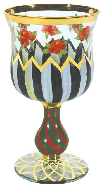 Carolyn Water Glass | MacKenzie-Childs eclectic-barware