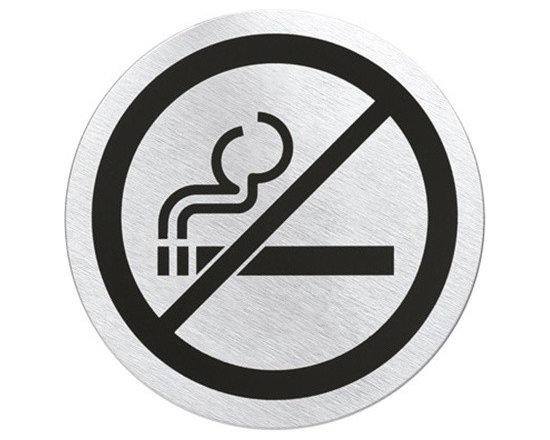 "Blomus - Signo No Smoking Sign - Self Adhesive no smoking signs - available in Round (3.1"" diameter) or Square (3.9"")"