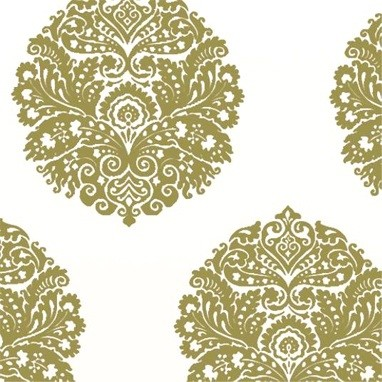 medallion wallpaper in apple eclectic wallpaper