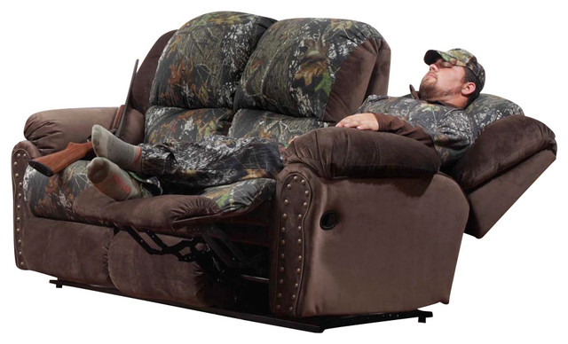 Chelsea Home Littleton Reclining Sofa in Mossy Oak - View Walnut traditional-sofas