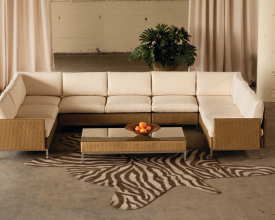 Lloyd Flanders Elements Sectional - Lloyd Flanders Elements Collection Sectional fuses nature's core building blocks into its refined lines.