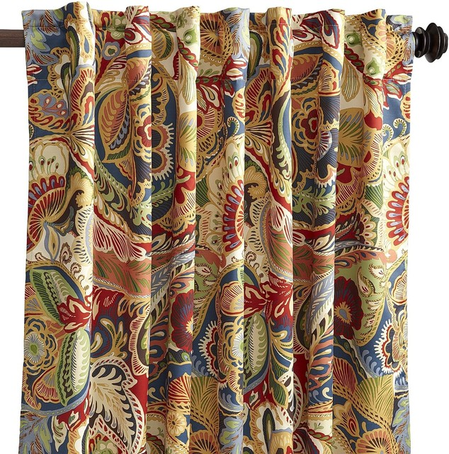 Vibrant Paisley Curtain Transitional Curtains By