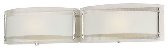 Vanity Light Curved Glass : Possini Euro Chrome Curved Glass 24-Inch-W Bathroom Fixture - Contemporary - Bathroom Vanity ...