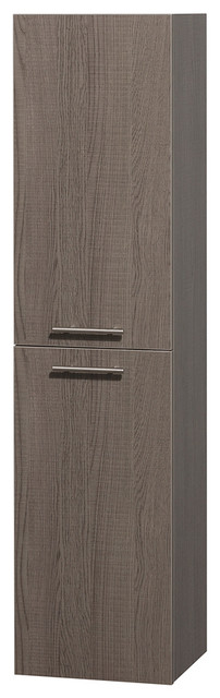Amare Wall and Floor Storage Bathroom Cabinet in Grey Oak - Modern - Medicine Cabinets - by ...