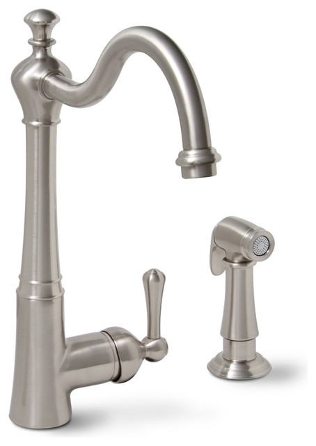 Sonoma Single Handle Kitchen Faucet with Spray - Brushed Nickel modern-kitchen-faucets