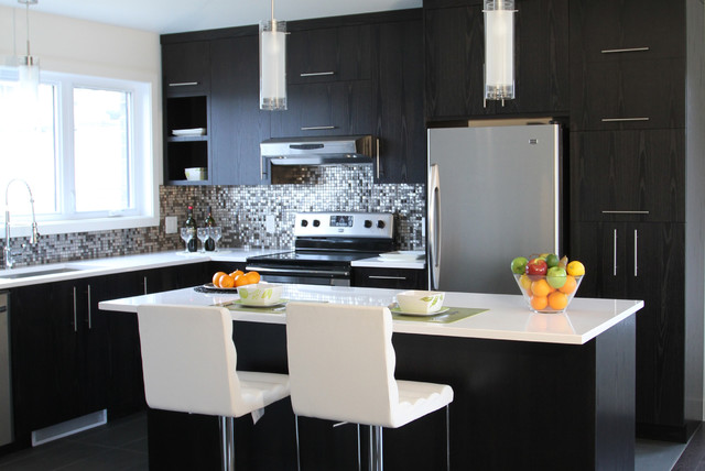 Sherbrooke  Cuisine Ideale Design contemporarykitchencabinets