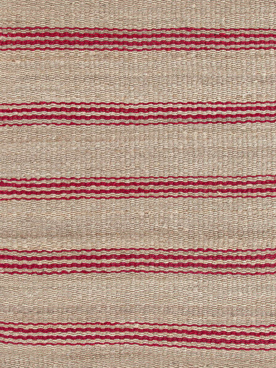 Jute Ticking Crimson Woven Rug -