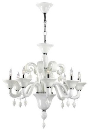 Cyan Treviso Chandelier - White, Large traditional-chandeliers