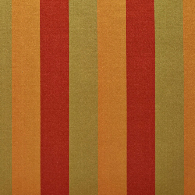 Sage Green Red And Orange Thick Tri Color Stripes