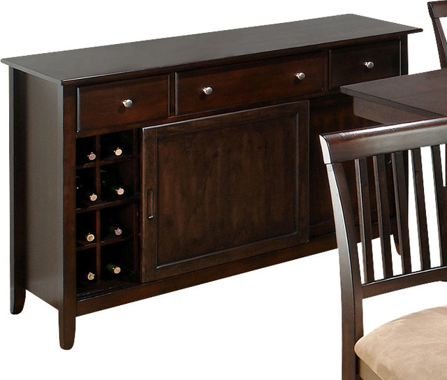 Jofran 373-95 Baker's Cherry Server with Removable Wine Rack traditional-buffets-and-sideboards