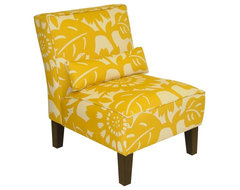 Skyline Furniture Armless Chair In Gerber Sungold contemporary chairs