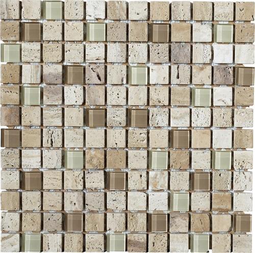 "Stone Medley | Luce (1"" x 1"") tile"