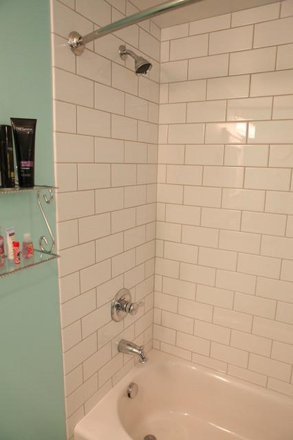 Bathroom Remodel Subway Tile Shower : Subway tile in bath shower combo remodel