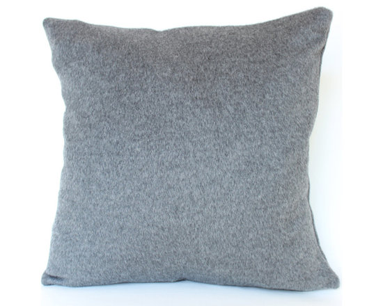The Pillow Studio - Schumacher Mohair Pillow Cover in Smokey Grey - This smokey grey mohair pillow cover is so soft- it is hard to just let it just sit on the sofa. And, the textural blend of mohair and wool pick up the light and feature various shades of grey. It is gorgeous!
