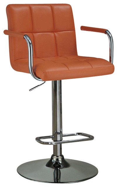 Adjustable Leather Like Vinyl Seat Foot Rest Chrome Base  : contemporary bar stools and counter stools from houzz.com size 404 x 640 jpeg 41kB