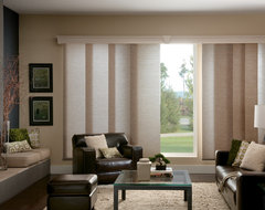 Bali® Sliding Panels: Promenade & Rafia traditional-window-blinds
