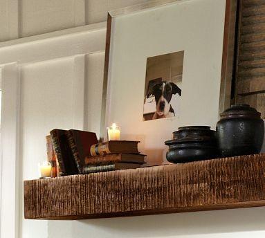 Benchwright Shelf, Rustic Mahogany stain traditional-wall-shelves