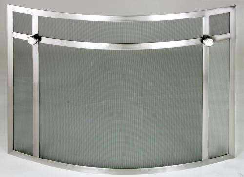 Silver Fireplace Doors : Silver custom fire screens