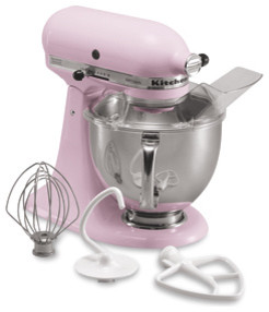KitchenAid Stand Mixer Cook for the Cure Edition eclectic small kitchen appliances