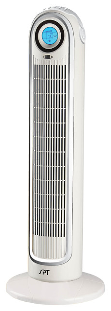 Remote Controlled Tower Fan with Ionizer contemporary-electric-fans