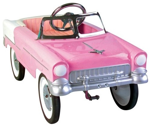 Charm 55 Classic Pink Convertible Pedal Car eclectic-kids-toys