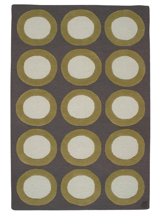 Scoot, Hand-Tufted Wool Rug - Orderly and pure graphic shapes that are calming, yet playfully inviting. Hand-tufted with 100% New Zealand wool. Cut and loop pile.
