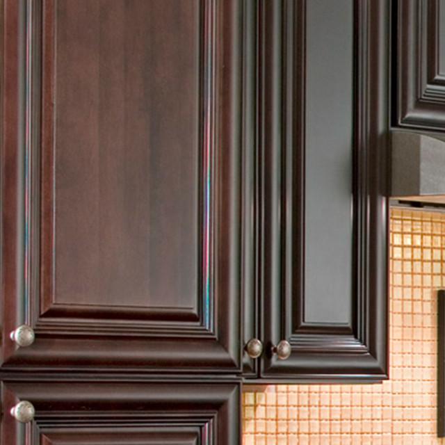 Beach Dark Chocolate Kitchen Cabinets traditional kitchen cabinetry
