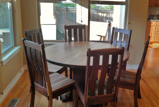 Solid Walnut quotCraftsmanquot Pedestal Table Craftsman  : craftsman dining sets from houzz.com size 640 x 432 jpeg 87kB