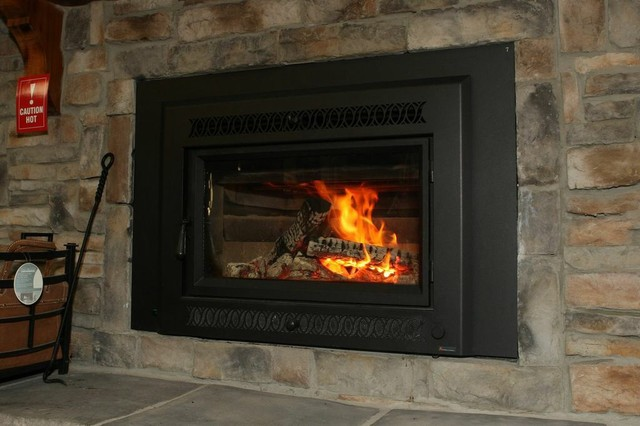 Wood fireplace insert modern atlanta by the for Modern wood burning insert