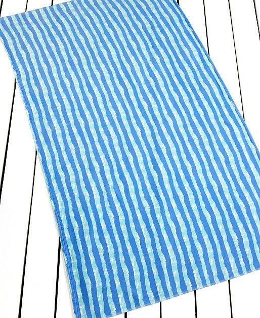 Martha Stewart Collection Towels Shoreline Stripe Beach Towel Contemporary Beach Towels