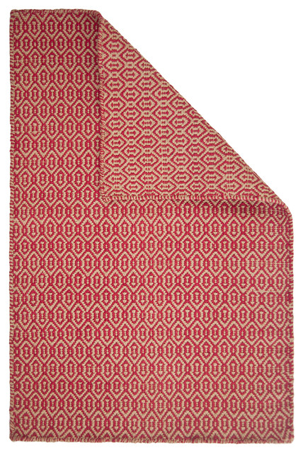 Deerfield Red/Taupe Eco Cotton Rug contemporary-rugs