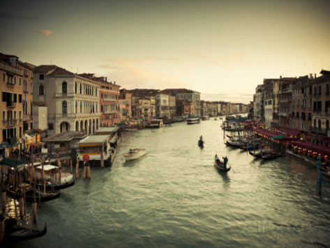 Grand Canal from the Rialto, Venice, Italy prints-and-posters