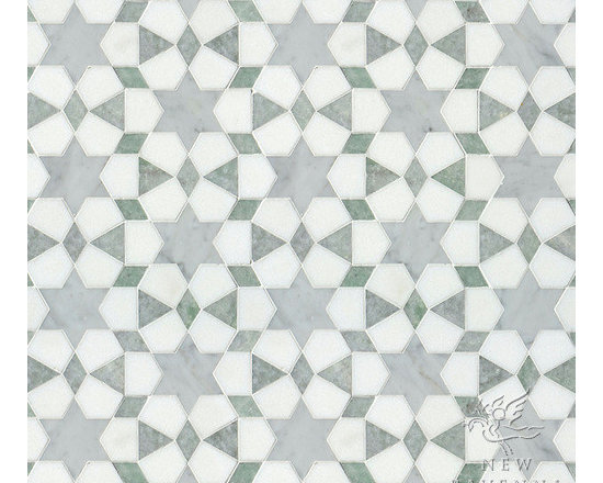 Stone Mosaic - Medina mosaic pattern creates a rhythmic pattern that can be used on any interior wall or floor application.