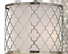 Regina Andrew Brushed Nickel Patterned Fixture contemporary pendant lighting