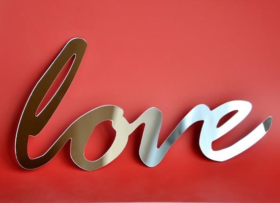 Selfadhesive Mirror Acrylic Word love by StudioLiscious on Etsy contemporary-mirrors