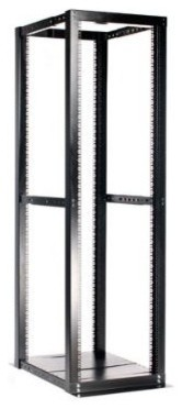 42U ADJUSTABLE 4 POST OPEN SERVER EQUIPMENT RACK CABINET modern-display-and-wall-shelves
