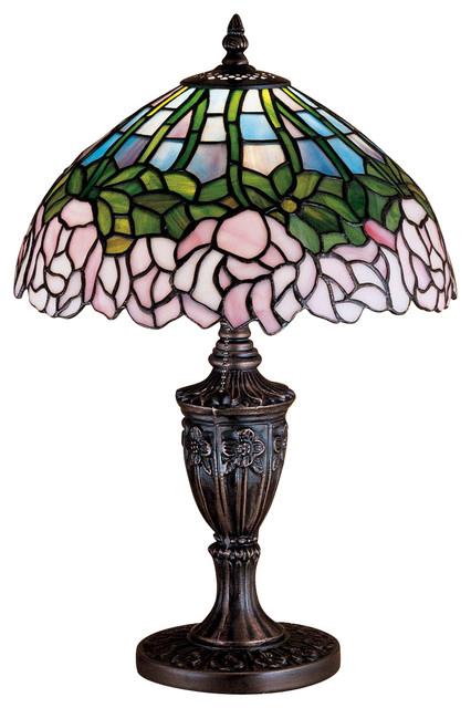 Meyda Tiffany Lamps Table Lamp in Mahogany Bronze traditional-table-lamps