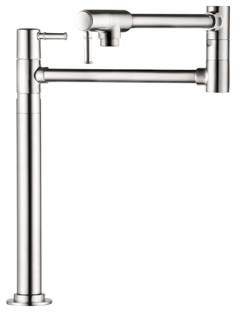 Hansgrohe 4219000 Talis C Pot Filler Deck Mounted in Chrome modern-bathroom-faucets