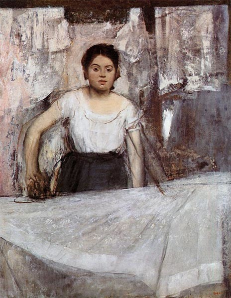 Woman Ironing (The Laundress), c.1869 | Degas | Canvas Print by TOPofART prints-and-posters