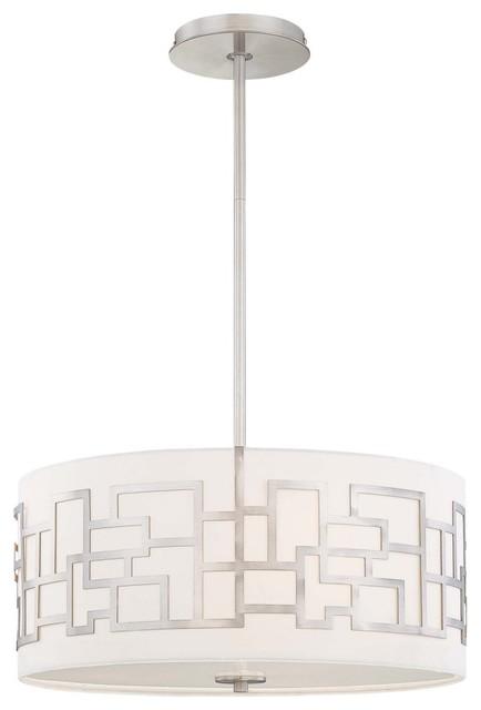 George Kovacs by Minka P194-084 3-Light Pendant - Brushed Nickel - 18W in. modern-pendant-lighting