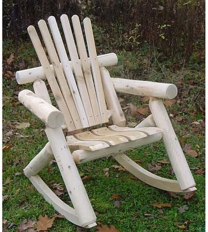 White Cedar Unstained Rocker contemporary-rocking-chairs