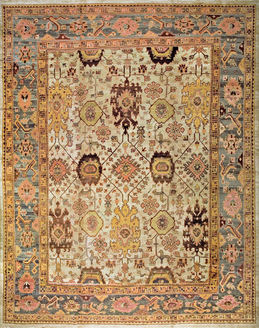 Antique Turkish Oushak Carpets modern-carpet-tiles