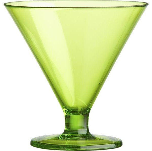 Acrylic Green Cocktail-Dessert Glass - Contemporary - Cocktail Glasses - by Crate&Barrel