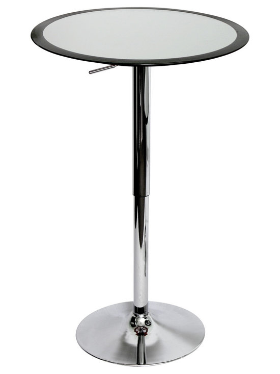 Ribbon Bar Table - BLACK/SILVER