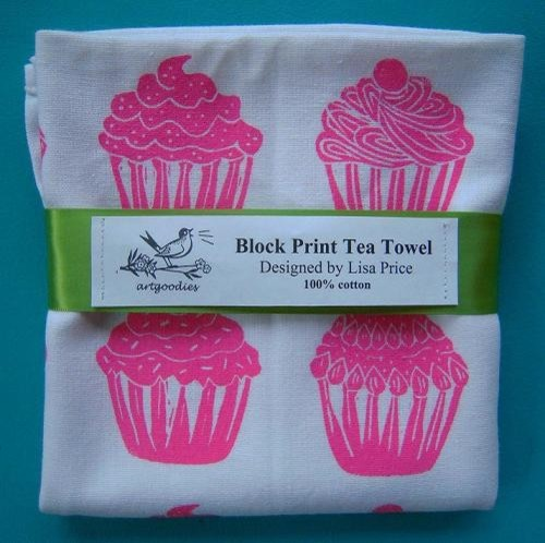 Cupcake Towel by Art Goodies modern dishtowels