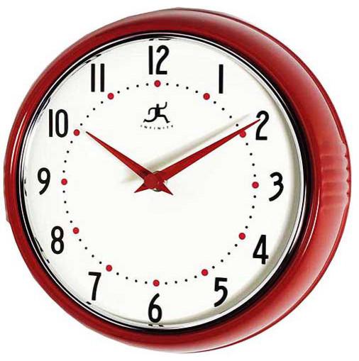 Retro Red Wall Clock modern clocks